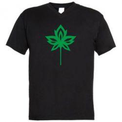 Купить Осень, Мужская футболка с V-образным вырезом Leaf, FatLine