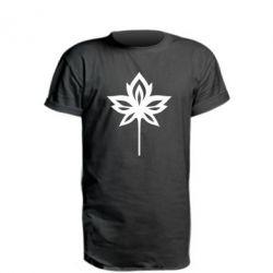 Осень, Удлиненная футболка Leaf, FatLine  - купить со скидкой
