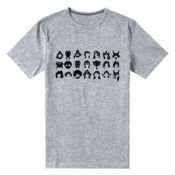 Мужская стрейчевая футболка League of Legends all characters