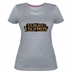 Женская стрейчевая футболка League of legends logo