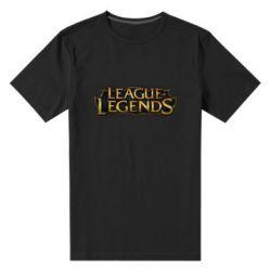 Мужская стрейчевая футболка League of legends logo