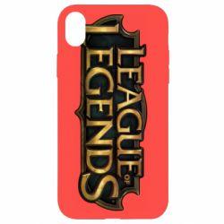 Чехол для iPhone XR League of legends logo