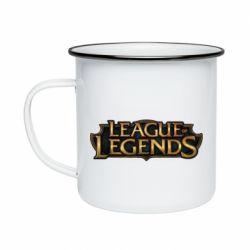 Кружка эмалированная League of legends logo