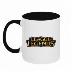 Кружка двухцветная 320ml League of legends logo