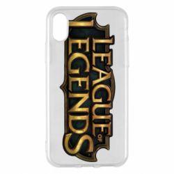 Чехол для iPhone X/Xs League of legends logo