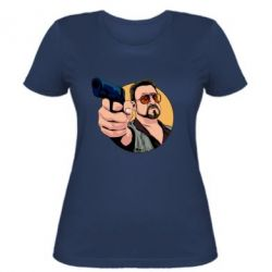 Жіноча футболка Лебовськи з пістолетом