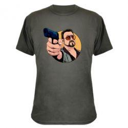 Камуфляжная футболка Лебовски с пушкой