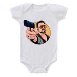 Дитячий бодік Лебовськи з пістолетом