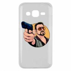 Чохол для Samsung J2 2015 Лебовськи з пістолетом