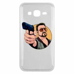 Чохол для Samsung J5 2015 Лебовськи з пістолетом