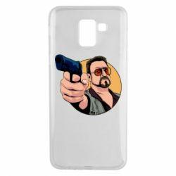 Чохол для Samsung J6 Лебовськи з пістолетом