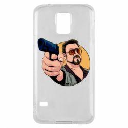 Чохол для Samsung S5 Лебовськи з пістолетом