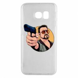Чохол для Samsung S6 EDGE Лебовськи з пістолетом