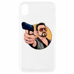 Чохол для iPhone XR Лебовськи з пістолетом