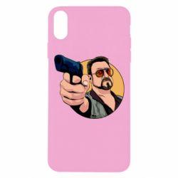 Чохол для iPhone Xs Max Лебовськи з пістолетом