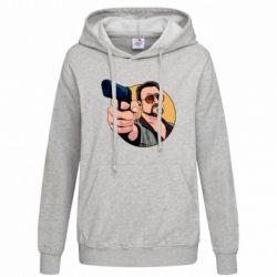Толстовка жіноча Лебовськи з пістолетом