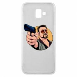 Чохол для Samsung J6 Plus 2018 Лебовськи з пістолетом