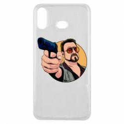 Чохол для Samsung A6s Лебовськи з пістолетом