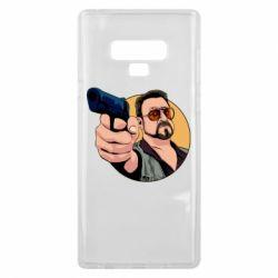Чохол для Samsung Note 9 Лебовськи з пістолетом