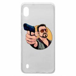 Чохол для Samsung A10 Лебовськи з пістолетом