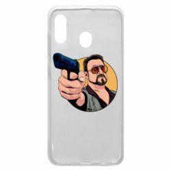 Чохол для Samsung A20 Лебовськи з пістолетом