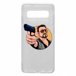 Чохол для Samsung S10 Лебовськи з пістолетом