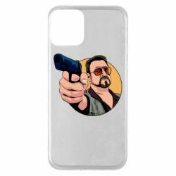 Чохол для iPhone 11 Лебовськи з пістолетом