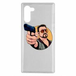 Чохол для Samsung Note 10 Лебовськи з пістолетом
