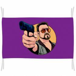 Прапор Лебовськи з пістолетом