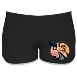 Женские шорты Лебовски с пушкой