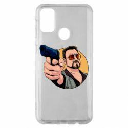 Чохол для Samsung M30s Лебовськи з пістолетом