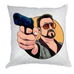 Подушка Лебовськи з пістолетом