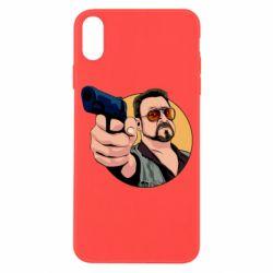 Чохол для iPhone X/Xs Лебовськи з пістолетом