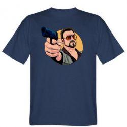Чоловіча футболка Лебовськи з пістолетом