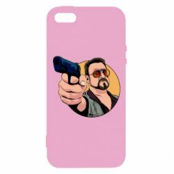 Чохол для iphone 5/5S/SE Лебовськи з пістолетом