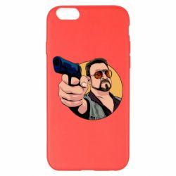 Чохол для iPhone 6 Plus/6S Plus Лебовськи з пістолетом