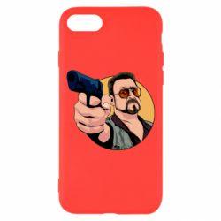 Чохол для iPhone 7 Лебовськи з пістолетом