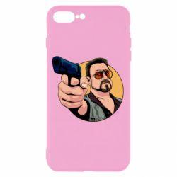 Чохол для iPhone 7 Plus Лебовськи з пістолетом
