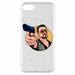 Чохол для iPhone 8 Лебовськи з пістолетом