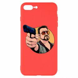 Чохол для iPhone 8 Plus Лебовськи з пістолетом