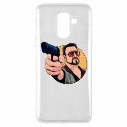 Купить Большой Лебовски, Чехол для Samsung A6+ 2018 Лебовски с пушкой, FatLine