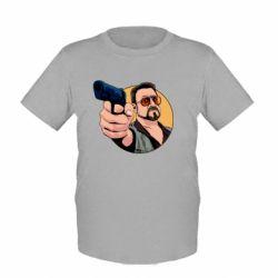 Дитяча футболка Лебовськи з пістолетом