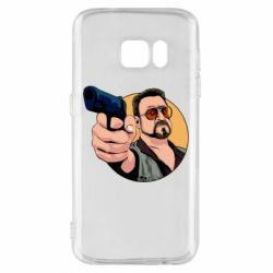 Чохол для Samsung S7 Лебовськи з пістолетом
