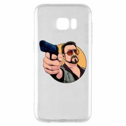 Чохол для Samsung S7 EDGE Лебовськи з пістолетом