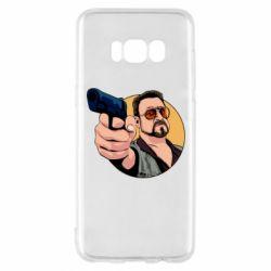 Чохол для Samsung S8 Лебовськи з пістолетом