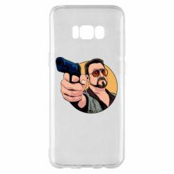 Чохол для Samsung S8+ Лебовськи з пістолетом