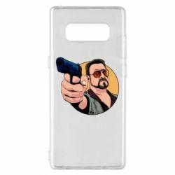 Чохол для Samsung Note 8 Лебовськи з пістолетом