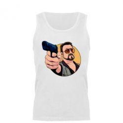Майка чоловіча Лебовськи з пістолетом