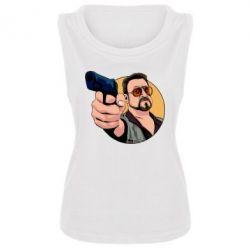 Майка жіноча Лебовськи з пістолетом