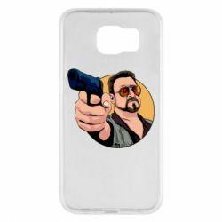 Чохол для Samsung S6 Лебовськи з пістолетом